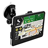 Updated Car GPS,7.1'' GPS Navigator with Lifetime-free Maps,800x480 Touch Screen GPS Navigation Stereo System with 8GB Memory for Car,Advanced Lane Guidance and Spoken Turn-By-Turn Directions