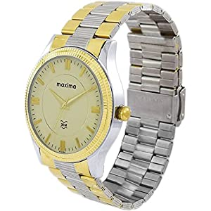 Maxima Analog Champagne Dial Men's Watch – 45203CMGT