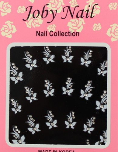 - Nail Sticker/ Nail Art - White Jewelry Collection - Butterfly