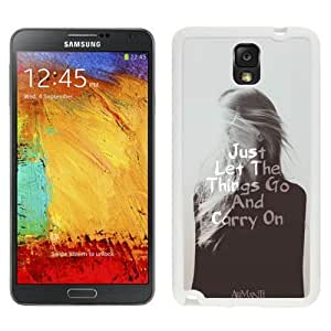 NEW Unique Custom Designed For Case Samsung Galaxy Note 2 N7100 Cover Phone Case With Let Things Go And Carry On_White Phone Case