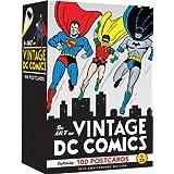The Art of Vintage DC Comics: 100 Postcards (Gift for Vintage Comic Book Fan, Art Note Card Set)