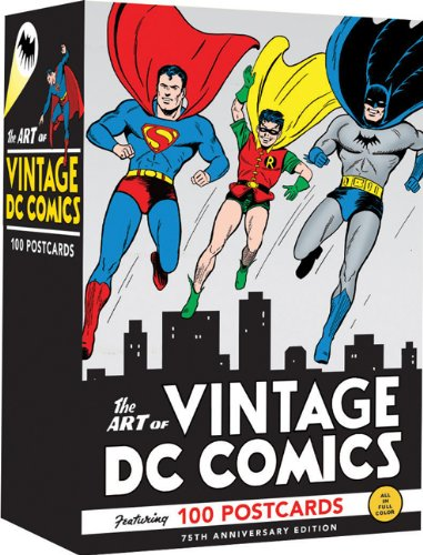 The Art of Vintage DC Comics: 100 Postcards (Comic Book Art Postcards, Vintage Bulk Postcards, Cool Postcards for Mailing) by Chronicle Books