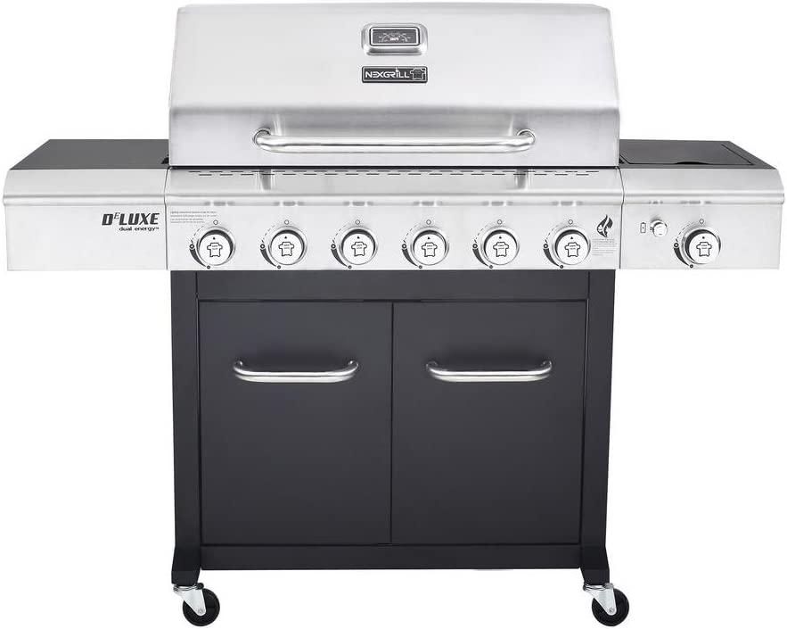 Nexgrill 720-0898 Deluxe 6-Burner Propane Gas Grill in Black with Side Burner review