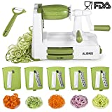 #8: 5-Blade Spiralizer - ALISKID Vegetable Spiralizer Slicer Shredder Veggie Grater Cutter with Powerful Suction Base
