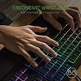 RAZER ORNATA CHROMA: Mecha-Membrane - Individually Backlit Mid-Height Keys - Leatherette Wrist Rest - Gaming Keyboard