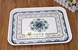 Wall of Dragon Rectangle Melamine Storage Tray Fruit Platter Tray Thick Bread Plate