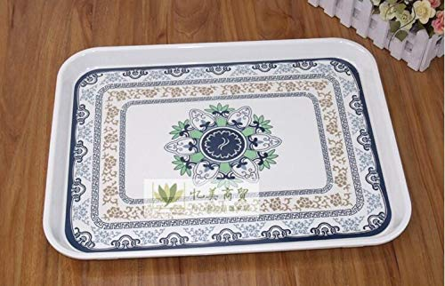 Wall of Dragon Rectangle Melamine Storage Tray Fruit Platter Tray Thick Bread Plate by Wall of Dragon