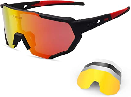 Big Frame Sunglasses Men Cycling Fishing Glasses Polarized Sport Driving Eyewear