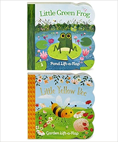 2 Pack Chunky Lift A Flap Board Books   Little Yellow Bee And Little Green Frog by Ginger Swift