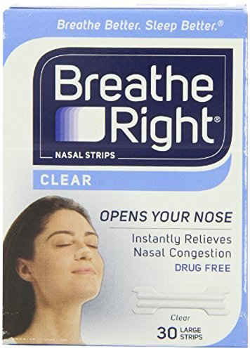 Clear Your Nasal Passages (Breathe Right Nasal Strips Clear For Sensitive Skin Large 30 Each)