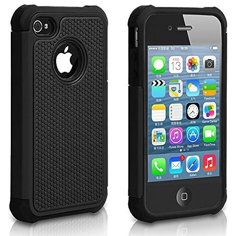 Pasonomi iPhone 4 Case-Premium Heavy Duty Hybrid Shockproof Durable Bumper Armor Cover for Apple iPhone (Iphone4 Tough Cases)