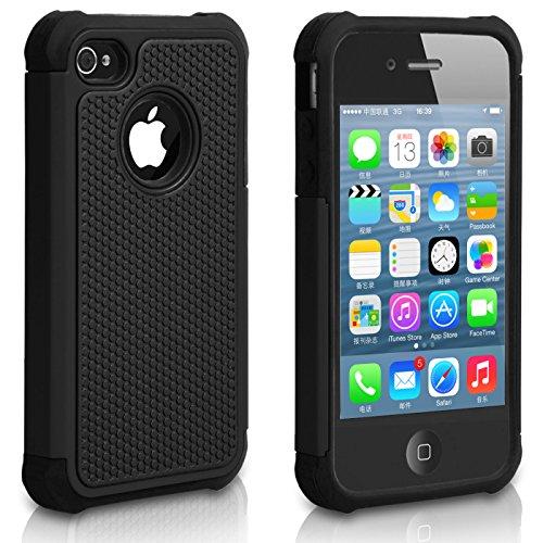 Pasonomi iPhone 4 Case-Premium Heavy Duty Hybrid Shockproof - Iphone 4s Cases For Men