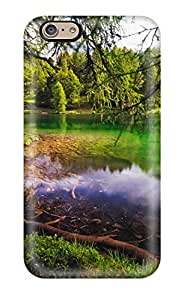 High-end Case Cover Protector For Iphone 6(green Lake)(3D PC Soft Case)