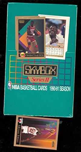 Card Box 2 Series Basketball - 1990-91 1991 Skybox basketball Wax Pack Box Series 2 BONUS Michael Jordan Card