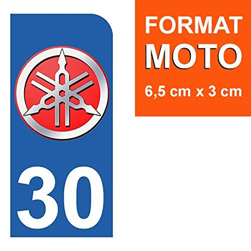 Stickers Garanti 5 Ans 30 Yamaha Nos Stickers sont recouvert dun pelliculage de Protection sp/écifique THELITTLESTICKER 1 Sticker pour Plaque dimmatriculation Moto