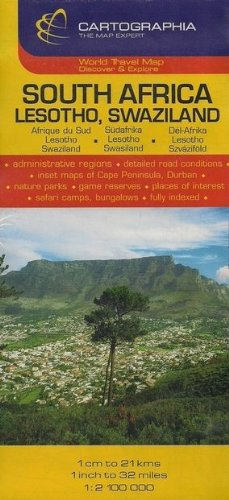 South Africa, Lesotho, Swaziland (Michelin National Maps) (English, French and German Edition)