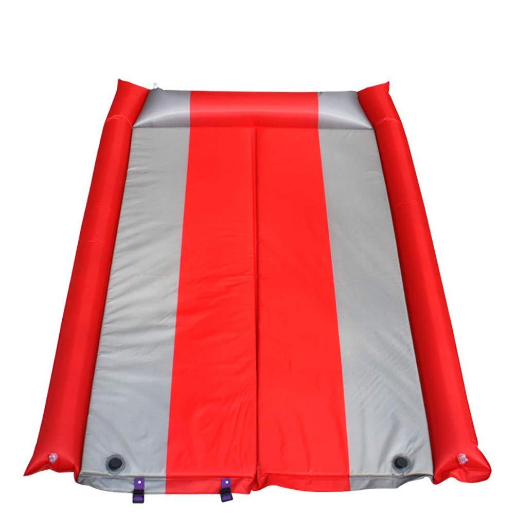 自己膨張キャンプ用 エアーマット インフレーティングンパクトレジャーマット防水収納袋付耐湿性折りたたみ式26.4X8.3in B07QJZPC2M red  red