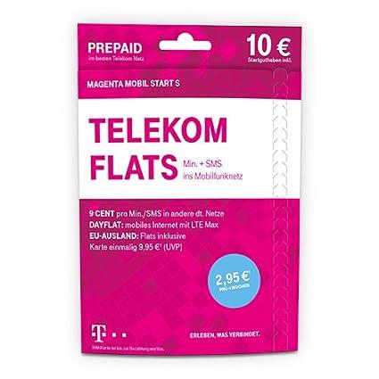 Telekom Karte Aktivieren.Telekom Magentamobi Start S Prepaid Karte Mit Flat Zu Einer Personlichen Zielrufnummer Sowie Telefonie Und Sms Flat Ins Mobilfunknetz