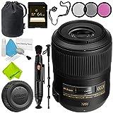 Nikon AF-S DX Micro NIKKOR 85mm f/3.5G ED VR Lens Advanced Bundle