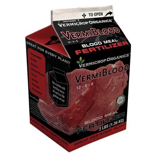 Vermicrop Organics VermiBlood Blood Meal Fertilizer, 3 lb