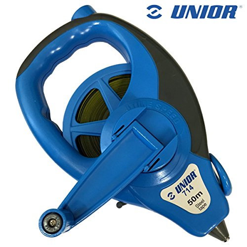 Price comparison product image Unior Professional 50M Long Steel Tape Measure - Surveyor Builders Metric Tape Reel Super Fast Rewind! by Unior Tools