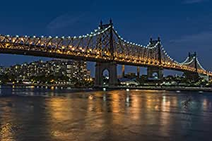 Queensboro (59th Street) Bridge at twilight; Queens, New York, United States of America Poster Print (19 x 12)