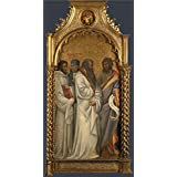Canvas Prints Of Oil Painting ' Giovanni Dal Ponte Saints Bernard Scholastica Benedict And John ' , 20 x 39 inch / 51 x 100 cm , Polyster Canvas, gifts for Bar, Game Room And Home Theater Decoration