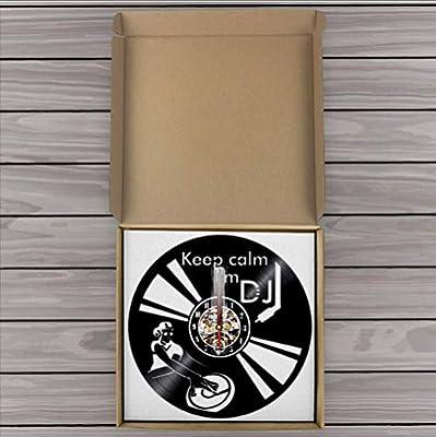 mubgo Relojes De Pared Decir Keep Calm Im DJ Wall Art Reloj De ...