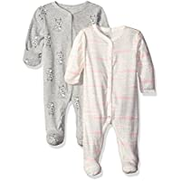 Rosie Pope Baby 2 Pack Coveralls, Heather Gray Multi, 6-9 Months