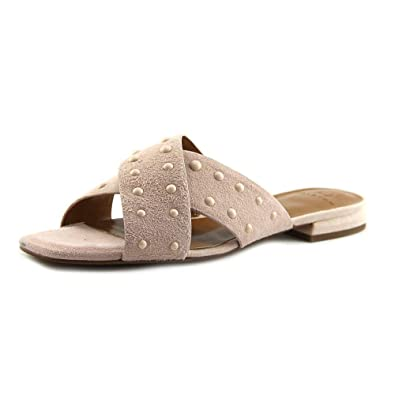 1d84c3aa874a39 H Halston Womens Nora Dress Square Toe Slide Sandals Pink 7.5 Medium (B