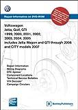 Volkswagen Jetta, Golf, GTI 1999, 2000, 2001, 2002, 2003, 2004, 2005: Repair Manual on DVD-ROM (Windows 2000/XP)