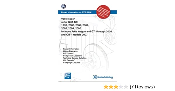 volkswagen jetta, golf, gti 1999, 2000, 2001, 2002, 2003, 2004, 2005:  repair manual on dvd-rom (windows 2000/xp): volkswagen of america:  9780837612645: