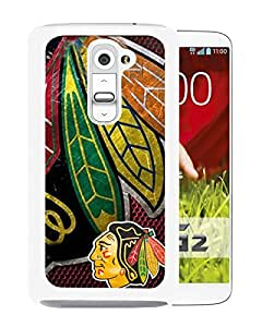 Chicago Blackhawks White Cool Abstract Picture Case For LG G2 Phone Case