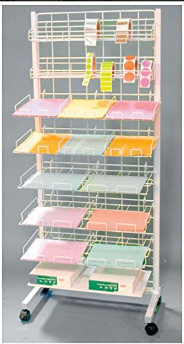 New Retail Mobile Scrapbook Sticker Paper Center with Shelves White by SCRAPBOOK 101