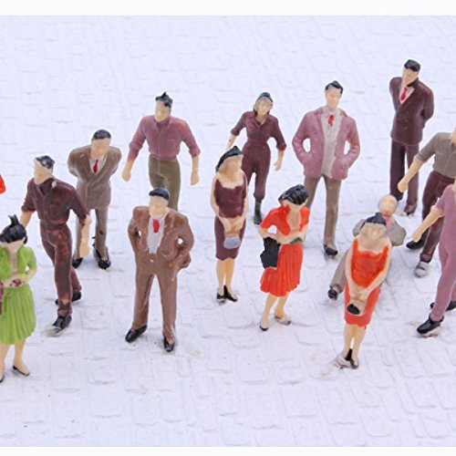 1:50 Scale O Gauge Colorful Painted Mixed Model People Figure Layout (Pack of 100) (Model People Figures)
