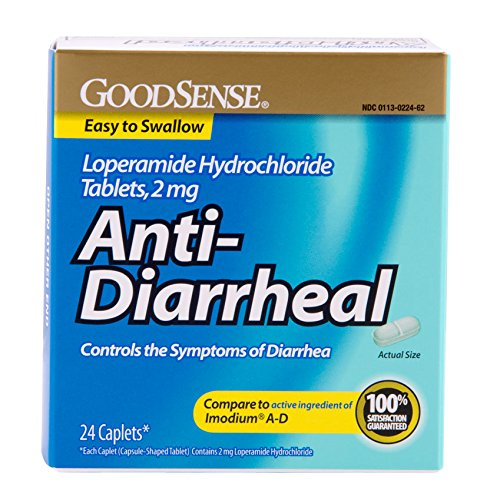 Sens anti-diarrhéiques chlorhydrate de lopéramide comprimés, 2 mg, 24-count