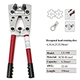 LX-50B 6-50mm² Copper Tube Terminal Crimping Tool Plier for Heavy Duty Cable Lug
