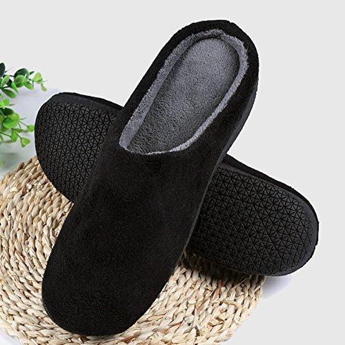 Femme dérapant violet Hiver Automne Chaussons Foncé Chaussures Printemps Anti Adulte Alxcio Maison Hommes Noir Fille Peluche Bureau Pour Pantoufles d4qg1