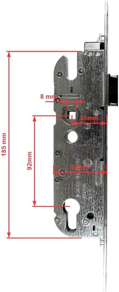 Entfernung Dornmaß 35mm GU Haustürschloss//Türschloss für Profilzylinder 92mm,