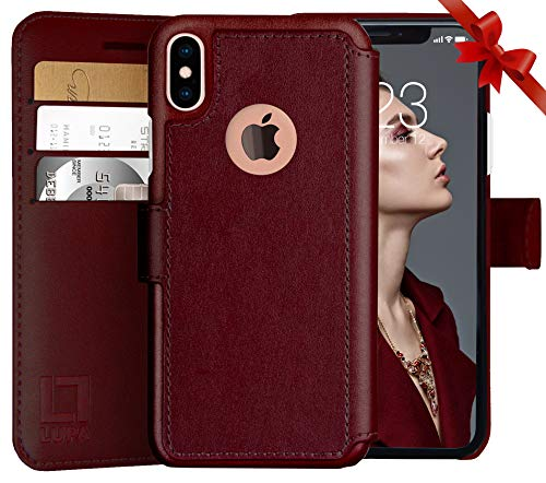 LUPA iPhone Xs Wallet case, iPhone X Wallet Case, Durable an