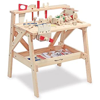 Melissa U0026 Doug Solid Wood Project Workbench Play Building Set