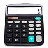 Amazon Price History for:Everplus Calculator, Everplus Electronic Desktop Calculator with 12 Digit Large Display, Solar Battery LCD Display Office Calculator,Black