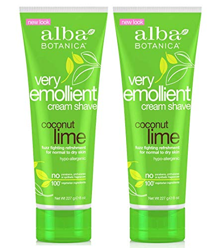 Alba Mango Cream Vanilla - Alba Botanica Very Emollient Shave Cream Coconut Lime 8 oz (2-packs)