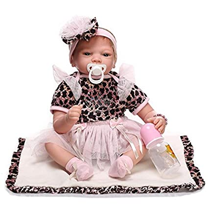 iCradle Handmade Realistic Looking Baby Girl Soft Silicone Reborn Doll Real  Lifelike Newborn Dolls Toddler 22 874b6f6f7d
