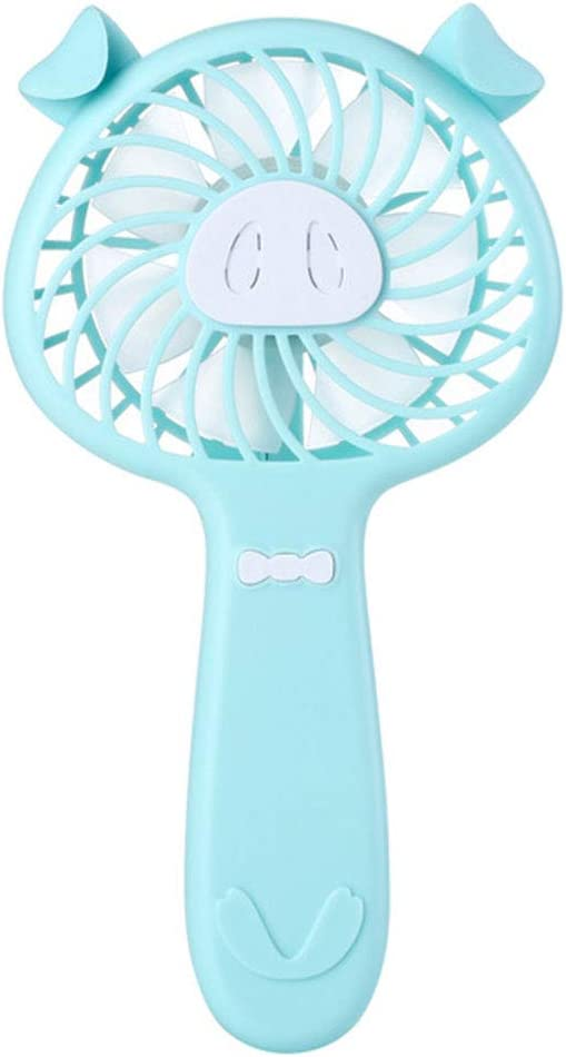 8QzJs1Tg Lovely Cartoon Pig Mini Portable 3 Wind Speed USB Rechargeable Aroma Cooling Fan White