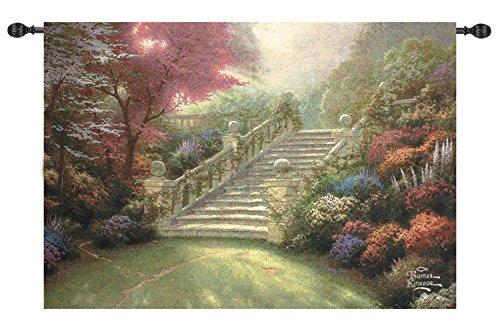 Manual Weavers Thomas Kinkade Stairway to Paradise Cotton Tapestry Wall Hanging 50