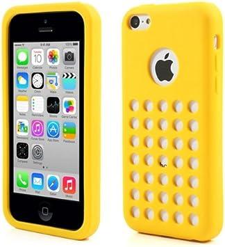 Coque arrière silicone Case avec trous jaune pour Apple iPhone 5C ...