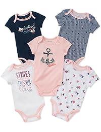 Baby Girls 5 Pack Bodysuit