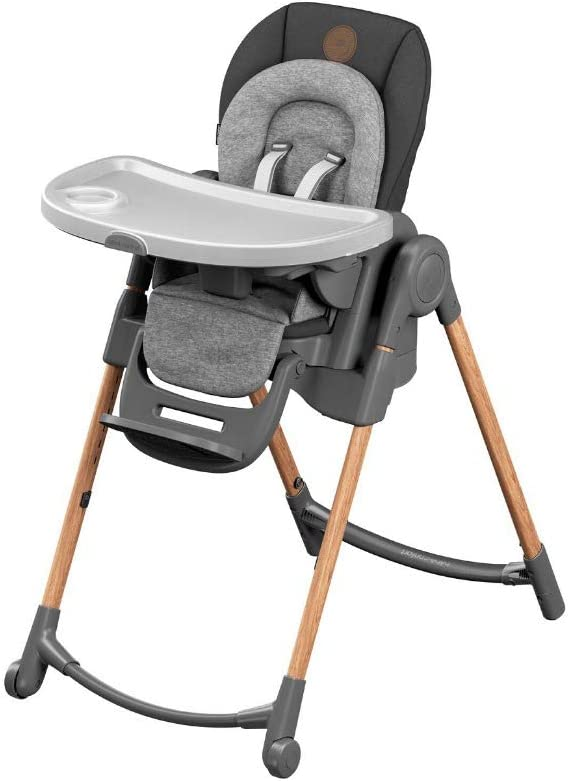 Bébé Confort Minla, Trona evolutiva con 6 formas diferentes de sentarse, apta desde el nacimiento, 0 meses - 6 años, Essential Graphite (gris)