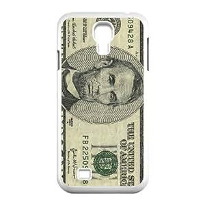 JFLIFE Money Dollar Phone Case for samsung galaxy s4 White Shell Phone [Pattern-1]